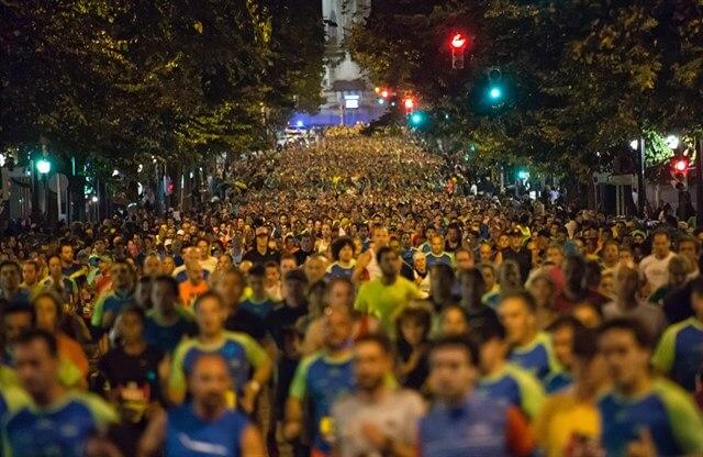 corredores en la maratón de Bilbao