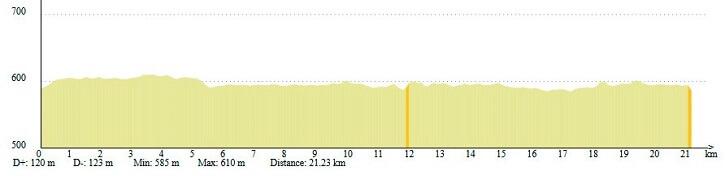 altimetria maraton alcala henares