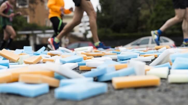 hidratacion esponjas maraton