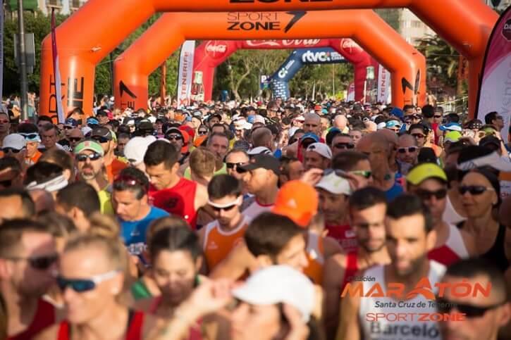 maraton tenerife corredores salida