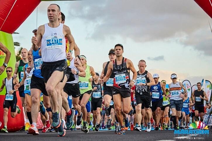 Lanzarote marathon corredores