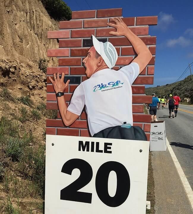 el muro del maratón