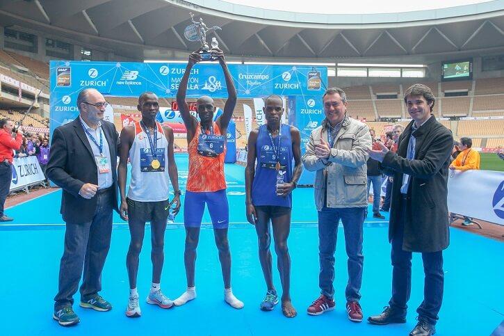 ganadores zurich maraton sevilla 2018