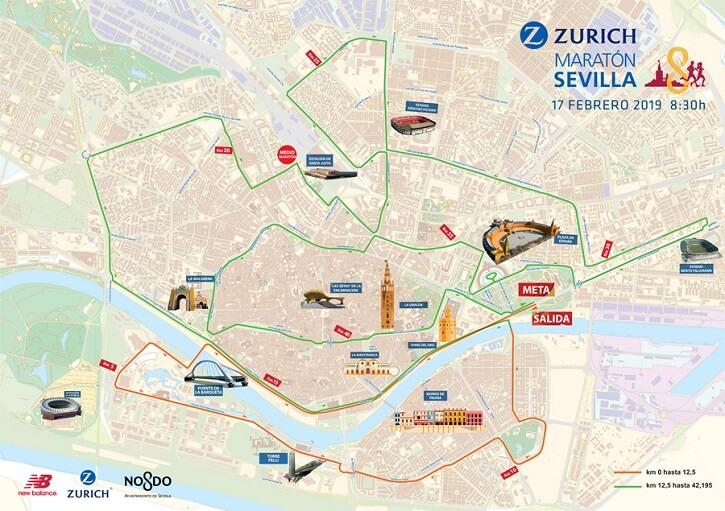 recorrido maratón sevilla 2019