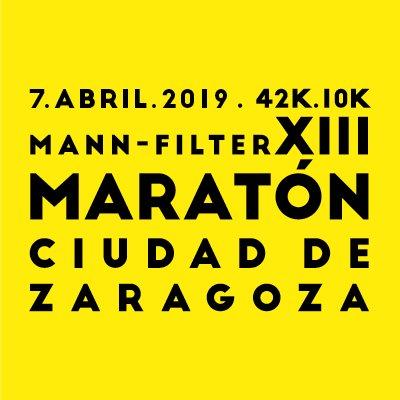 maraton de zaragoza 2019 cartel