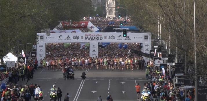 salida maratón de Madrid