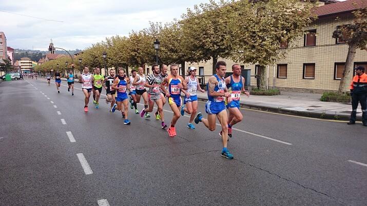 corredores en el maraton langreo asturias