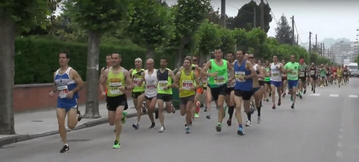 corredores en la maraton laredo