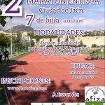 cartel de la 2ª maratón en pista Ciudad de Jaén