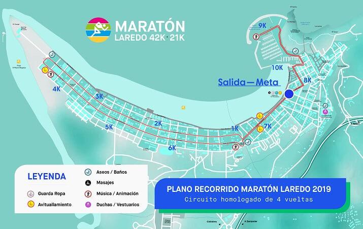 recorrido maratón de laredo 2019