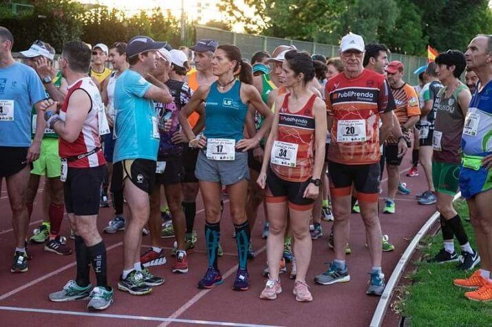 salida del maratón en pista Jaén