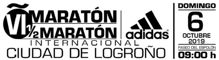 cartel maratón de Logroño 2019