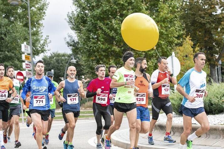 corredores en la maratón de Burgos