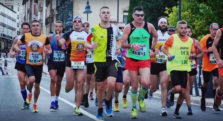 corredores en el maratón ciudad de logroño