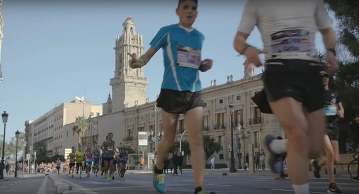 corredores en el maratón trinidad alfonso edp valencia