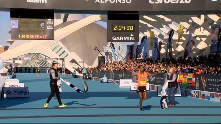 ganador del maratón de valencia