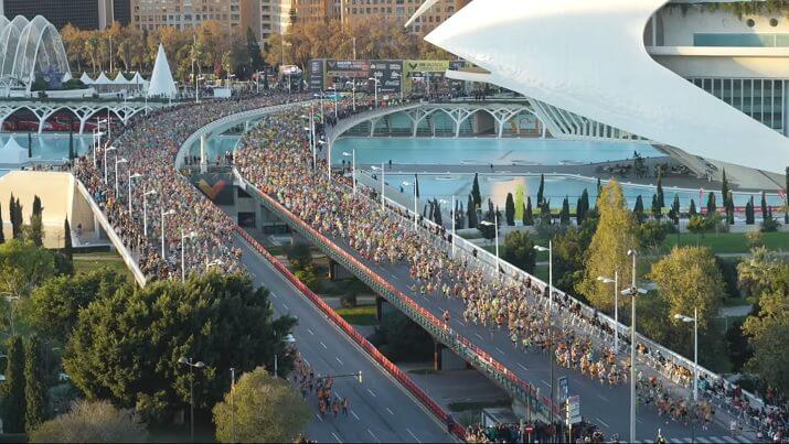 salida del maratón de valencia