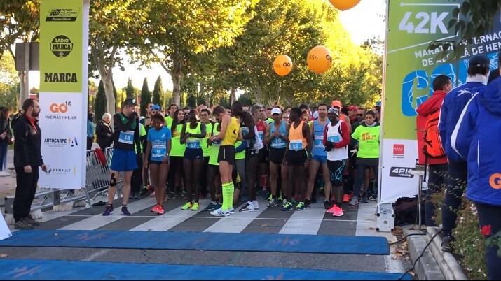 salida del maratón de Alcalá (Madrid)