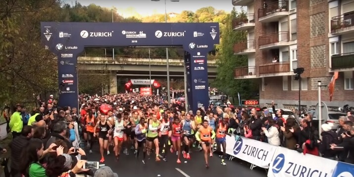 Salida del maratón de San Sebastian