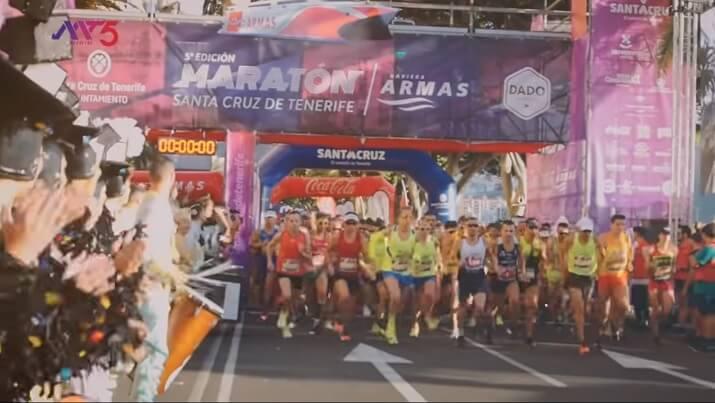 salida del maratón de tenerife