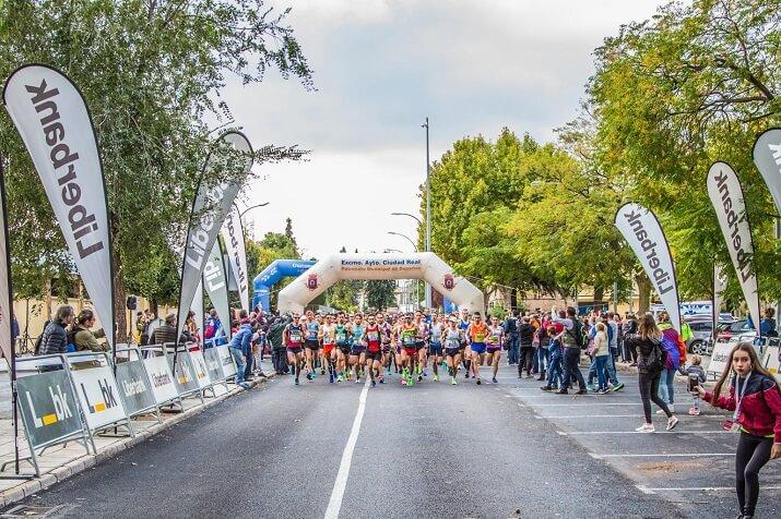 Salida del maratón de Castilla La Mancha
