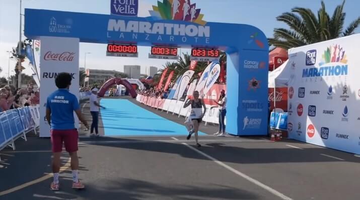 ganador de la maratón de Lanzarote