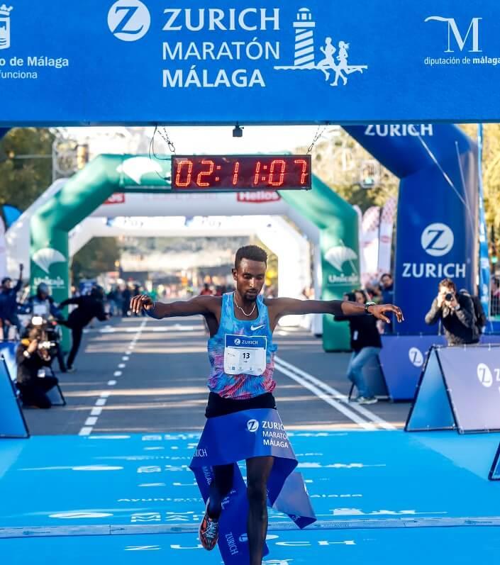 ganador del maratón de Málaga