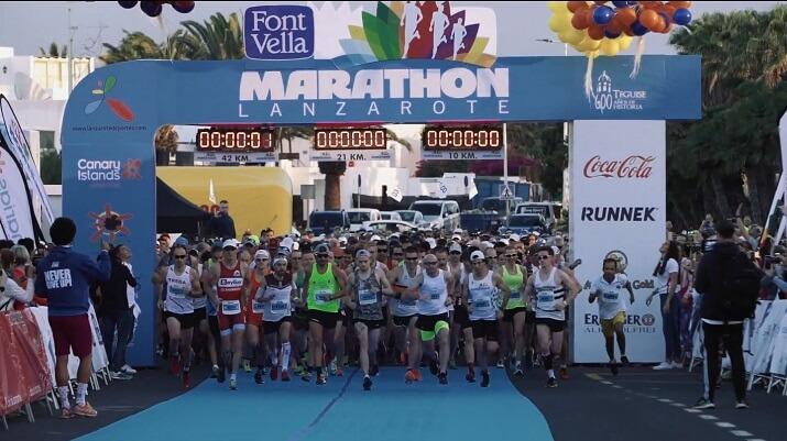 salida de la lanzarote Marathon