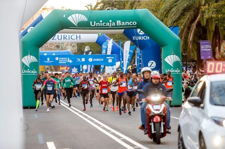 salida del maratón de Málaga