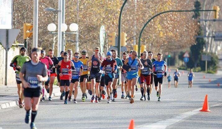 corredores en la maratón de Tarragona