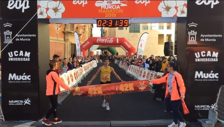 ganador del maratón de Murcia