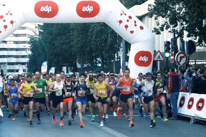 salida del maratón de Murcia