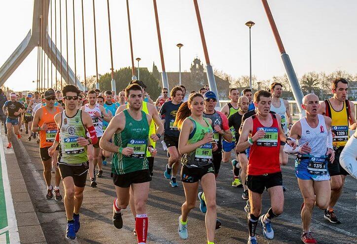 particupantes maratón sevilla