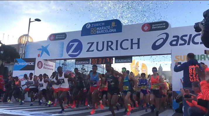 salida del maratón de Barcelona