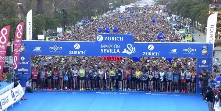 salida del zurich maratón sevilla