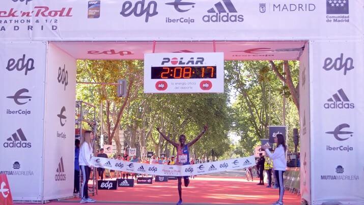 ganador maratón de Madrid