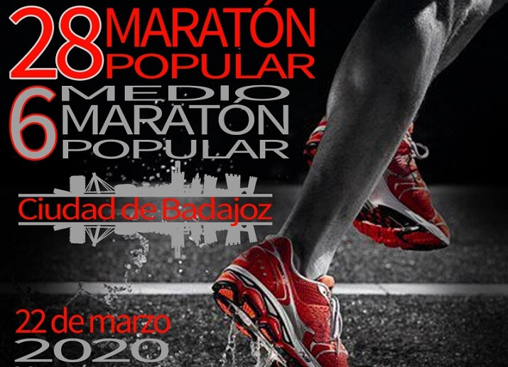 cartel maratón de Badajoz 2020