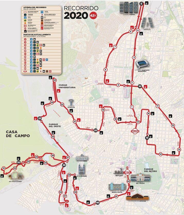 recorrido maraton madrid 2020