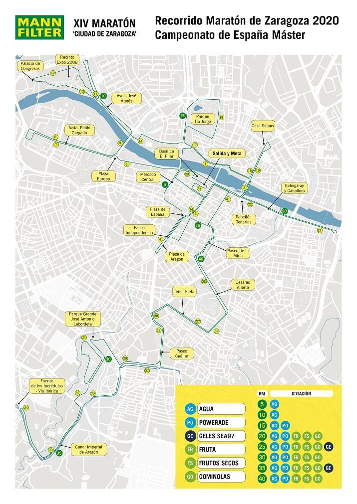 recorrido del maratón de zaragoza 2020