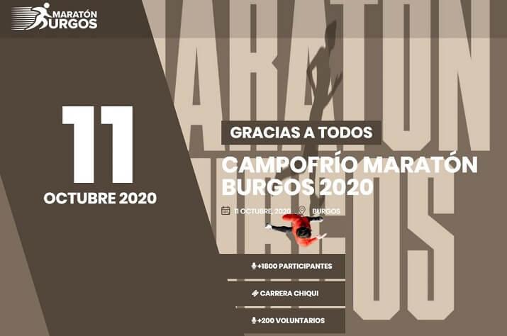 cartel de la maratón de Burgos 2020