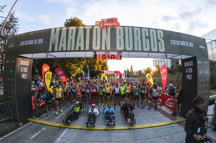 salida del maratón de Burgos