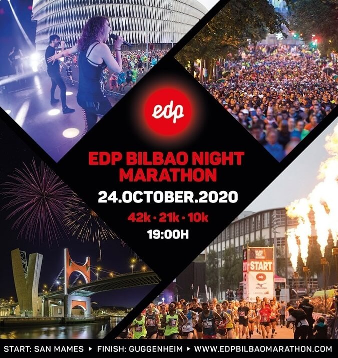 cartel EDP Bilbao Night Marathon 2020