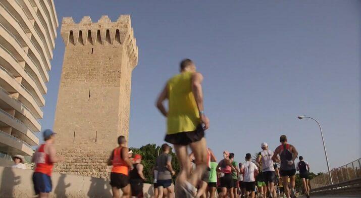 corredores en el maratón de Palma de Mallorca