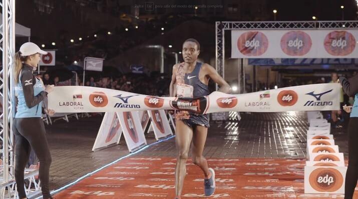 ganador del edp Bilbao night marathon