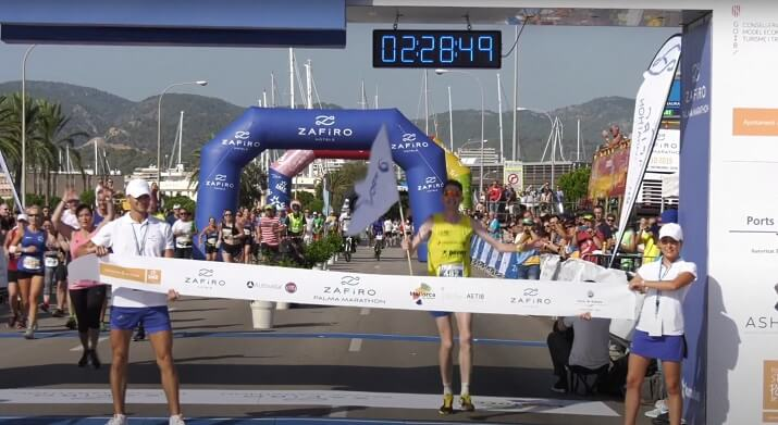 ganador zafiro Palma Marathon
