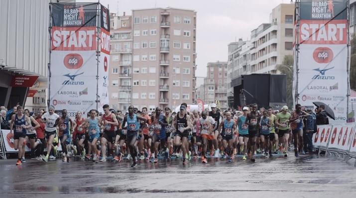 salida del edp Bilbao night marathon