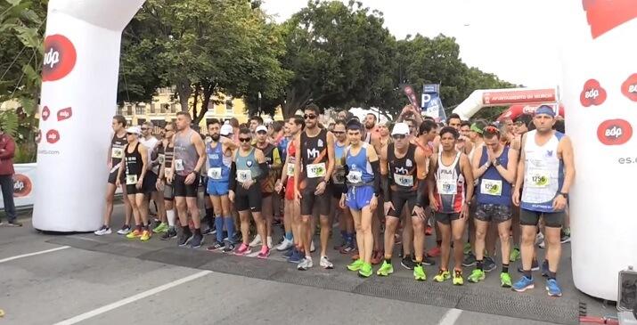 salida maratón de Murcia