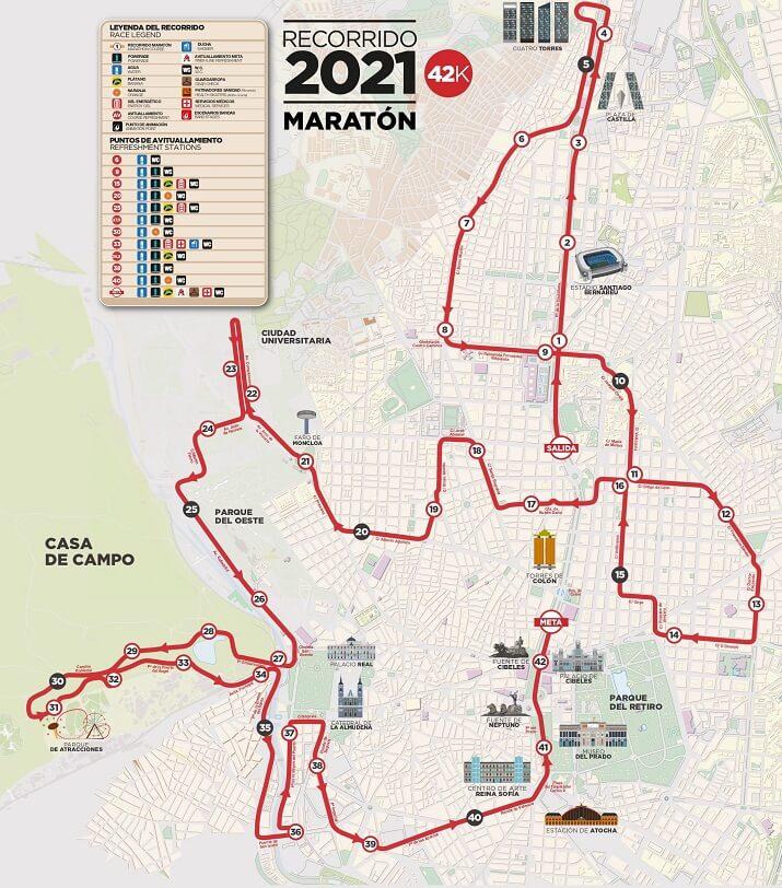 recorrido maraton madrid 2021