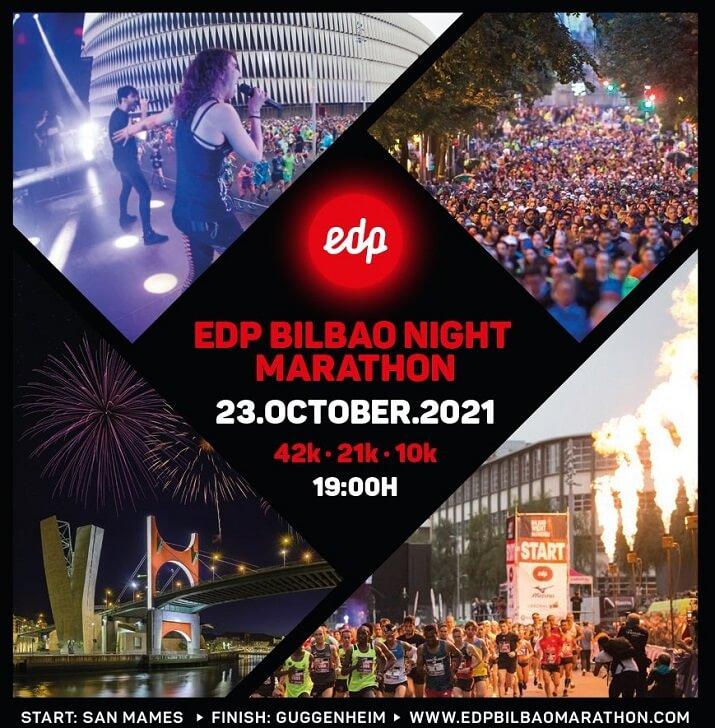 cartel Bilbao Night marathon 2021