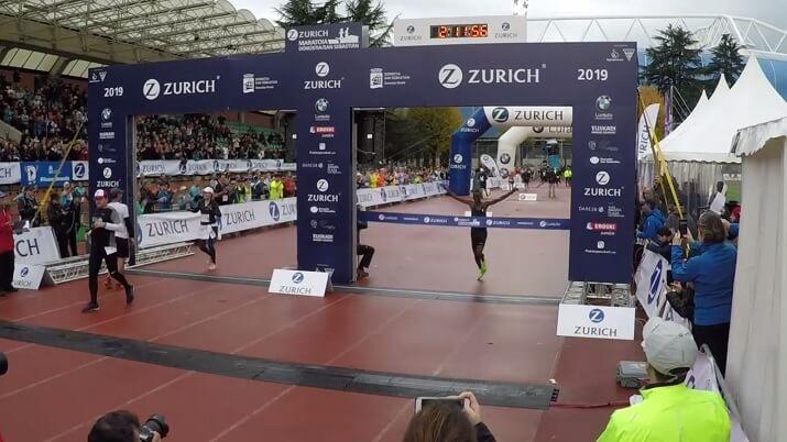 ganador del maratón de San Sebastián Donostia